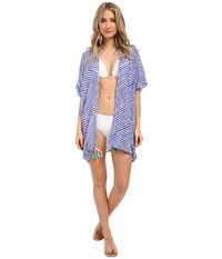 Echo Paradise Weave Cardi Cover Up Dazzling Blue Women's Swimwear