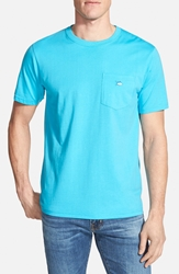 Southern Tide Embroidered Pocket T Shirt Waterfall