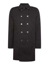 Only And Sons Button Through Trench Jacket Black
