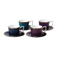 Wedgwood Byzance Teacup And Saucer Set Of 4