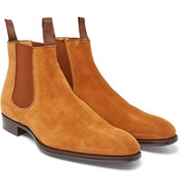 Kingsman George Cleverley Jason Suede Chelsea Boots Tan