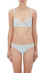 Heidi Klum Women's Mon Coeur Lace Underwire Bra Light Blue