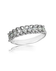 Forzieri 0.37 Ctw Nine Stone Diamond 18K White Gold Ring