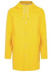 Stutterheim Stockholm Yellow Rubberised Raincoat