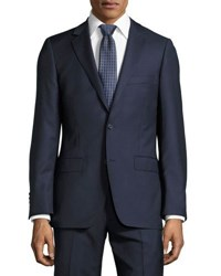 Dkny Slim Fit Solid Wool Two Piece Suit Navy