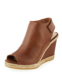Andre Assous Beatrice Leather Wedge Sandal Cuero