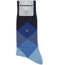 Burlington Clyde Cotton Blend Socks Blue