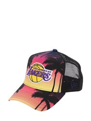 New Era Los Angeles Coastal Heat Trucker Hat Black