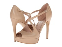 Enzo Angiolini Abalina Natural Leather High Heels Brown