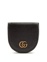 Gucci Gg Marmont Grained Leather Coin Purse Black