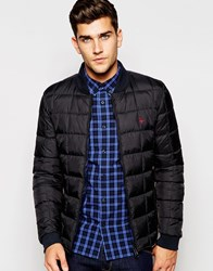 Jack Wills Quilted Nylon Bomber In Black