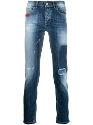 Frankie Morello Slim Fit Denim Jeans Blue