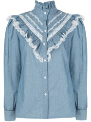 Petersyn Almira Chambray Lace Top 60