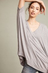 Anthropologie Jane Ribbed Tunic Grey