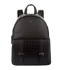 Montblanc Alligator Pocket Backpack Black