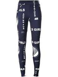 Stella Mccartney Thanks Girls Printed Leggings Blue