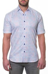 Maceoo Fresh Jigsaw Slim Fit Sport Shirt White
