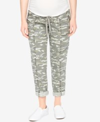Motherhood Maternity Camo Cropped Pants Camo Print