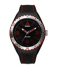 Reebok Emom 1.0 Scalloped Bezel Silicone Black Strap Watch