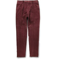 Dunhill Slim Fit Corduroy Trousers Red