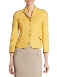 Akris Punto Dot Quilted Cotton Jacket Light Yellow