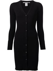 Rosetta Getty Long Ribbed Cardigan Black