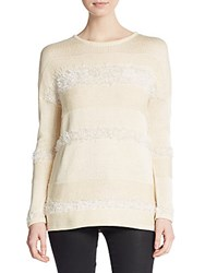 By Zoe Plush Stripe Sweater Ivory