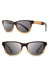 Women's Shwood 'Canby' 53Mm Sunglasses Sweettea Maple Grey