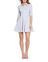 Bcbgeneration Long Sleeve Shirt Dress Blue