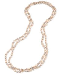 Carolee Imitation Pearl Extra Long Necklace Pink
