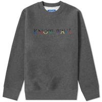 Know Wave Multi Logo Crew Sweat Grey