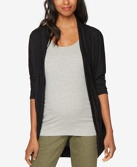 A Pea In The Pod Open Front Cardigan Black