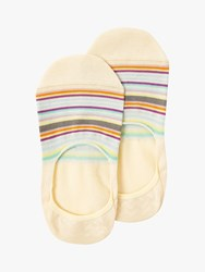 Paul Smith Stripe No Show Socks Cream Multi