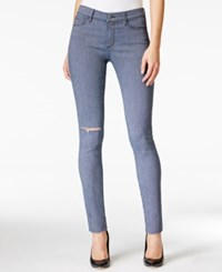 Buffalo David Bitton Faith Ripped Skinny Railroad Stripe Wash Jeans