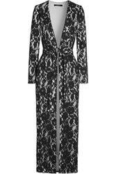 Badgley Mischka Guipure Lace Coat Black