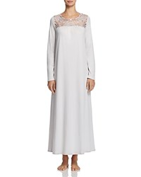 Hanro Vittoria Long Sleeve Gown Silver