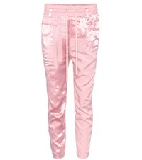 Haider Ackermann Satin Cropped Trousers Pink