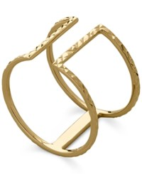 Macy's T Bar Ring In 14K Gold Yellow Gold