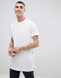 New Look Longline T Shirt In White