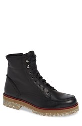 Donald J Pliner Larz Lugged Moc Toe Boot Black