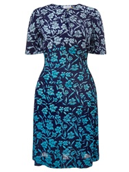 Collection Weekend By John Lewis Ombre Floral Dress Blue