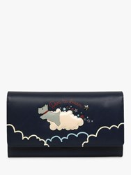 Radley Dare To Dream Large Leather Flapover Matinee Purse Ink