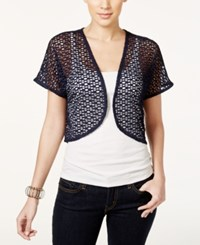 Styleandco. Style And Co. Petite Cropped Shrug Only At Macy's Industrial Blue