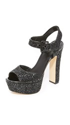 Michael Michael Kors Kincaid Platform Sandals Black