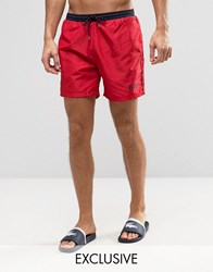 Boss By Hugo Star Fish Swim Short Exclusive Red Red