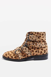 Topshop Amelia Studded Boots True Leopard