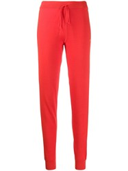 Chinti And Parker Fitted Sweatpants Red