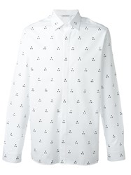 Neil Barrett Geometric Print Shirt White