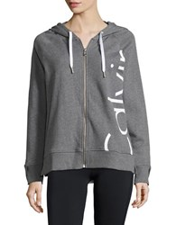 Calvin Klein Hooded Long Sleeve Jacket Grey
