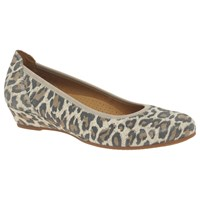 Gabor Chester Wide Fit Wedge Heeled Pumps Leopard